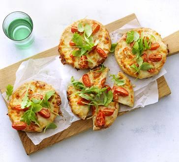 Arugula Pita Pizzas image