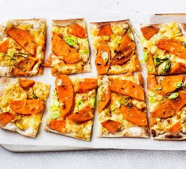 Sweet Potato Flatbread with Hazelnuts image