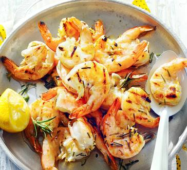 Lemon-Garlic Grilled Shrimp image