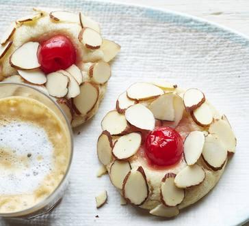 Cherry-Almond Thumbprints image