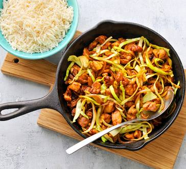 Chicken and Cabbage Stir-Fry image