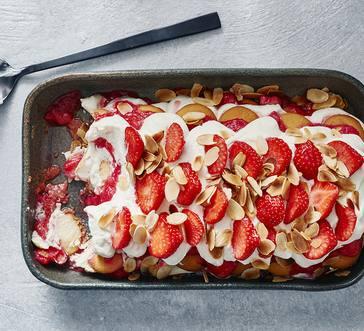 Strawberry-Rhubarb Icebox Cake image