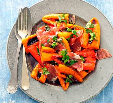 Mini Sweet Peppers with Crispy Prosciutto image