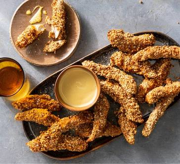 Pretzel-Crusted Chicken Strips image