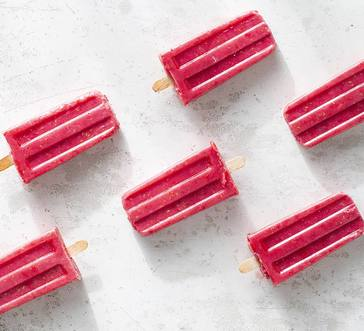 Raspberry-Yogurt Pops image