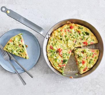 Broccoli and Tomato Frittata image