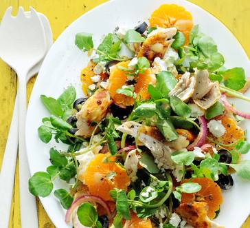Watercress Chicken Salad with Oranges image
