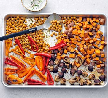 Roasted Spiced Chickpeas with Veggies image