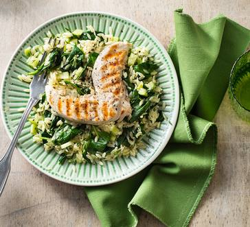 Orzo Salad with Grilled Chicken image