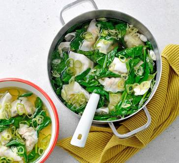 Wonton Soup with Spinach image