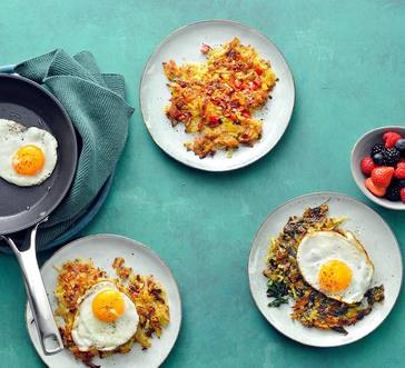 Make-Ahead Hash Browns with Fried Eggs image