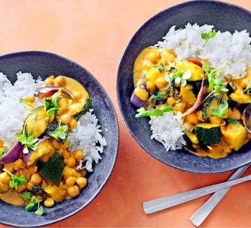 Slow Cooker Red Curry Chickpeas and Squash image