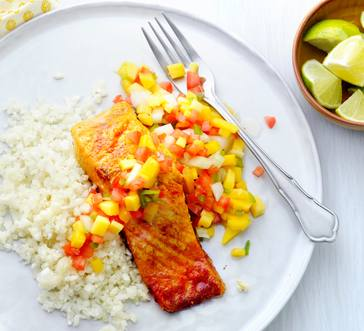 Grilled Salmon with Mango Salsa image