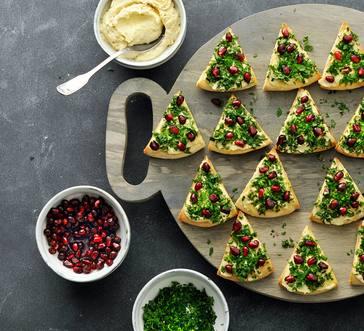 Hummus Christmas Trees image