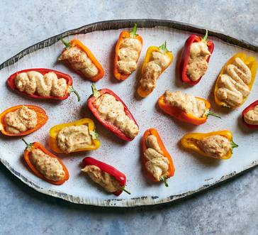 Hummus-Stuffed Peppers image