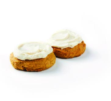 Frosted Ginger Pumpkin Spice Cookies image