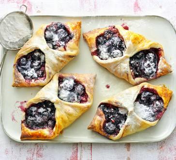 Blueberry Cream-Cheese Danishes image