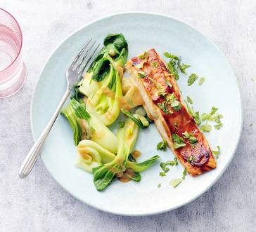 Broiled Miso Salmon with Bok Choy image