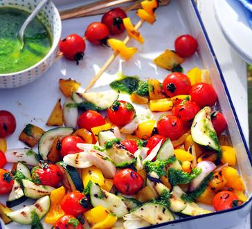 Grilled Veggie Salad with Mint Vinaigrette image