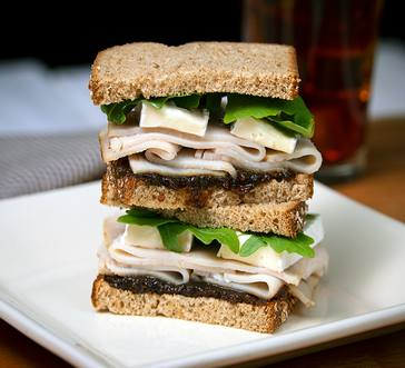 Turkey Sandwich with Brie, Fig Spread, & Arugula image