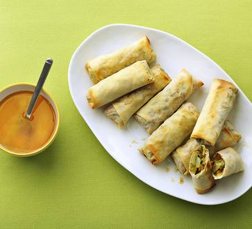 Air-Fried Veggie Spring Rolls image