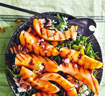 Grilled Cantaloupe with Almonds and Feta image