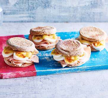 Turkey and Cheese Breakfast Sandwiches image