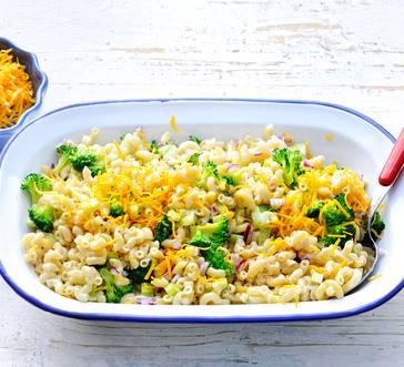 Broccoli-Cheddar Macaroni Salad image