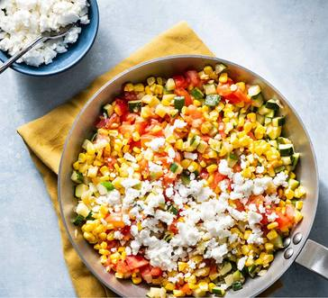 Zucchini with Corn and Cheese image