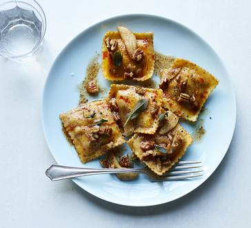 Pumpkin & Sage Ravioli with Apple & Pecans image