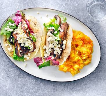 Grilled Mushroom Tacos and Butternut Squash Mash image