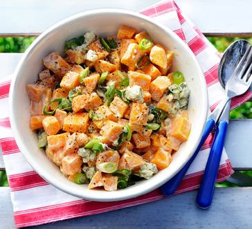 Sweet Potato Salad with Blue Cheese Dressing image
