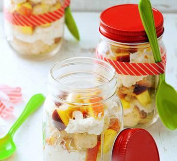 Mason Jar Peaches And Cream Trifles image
