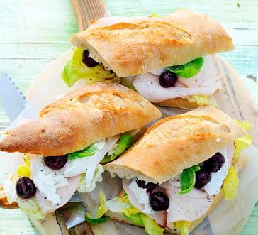 Turkey and Mozzarella Sandwiches image