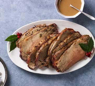 Strip Roast with Tarragon White Wine Sauce image