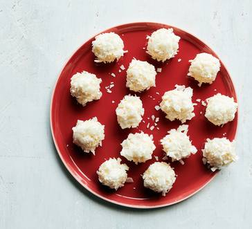 No-Bake White Chocolate Coconut Snowballs image