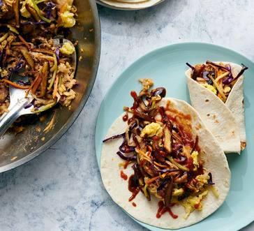 Vegetarian Moo Shu Wraps image