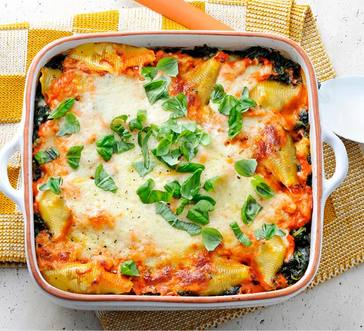 Stuffed Shells alla Vodka with Spinach image