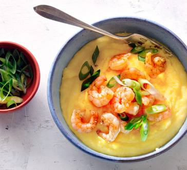Shrimp with White Cheddar Grits image