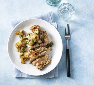 Seared Pork Chops with Applesauce image