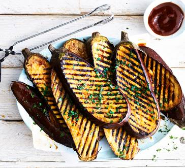 Glazed Eggplant Steaks image