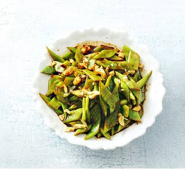 Stir- Fried Snow Peas with Cashews image