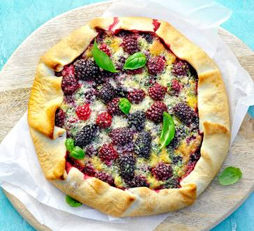 Blackberry and Basil Crostata image