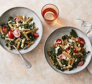 Kale Caesar Pasta Salad image