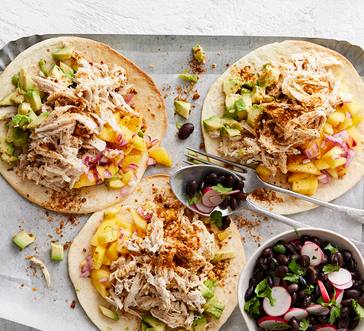 Chicken Tostadas with Mango and Avocado image