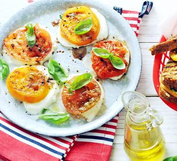 Sliced Heirloom Tomatoes and Mozzarella image
