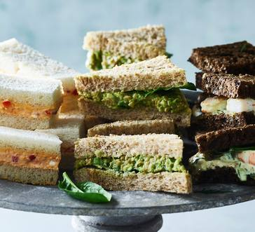 Shrimp Salad with Watercress Finger Sandwiches image