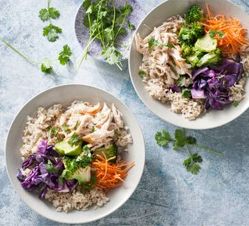Orange-Sesame Chicken Rice Bowl image