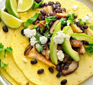 Mushroom and Black Bean Tacos image