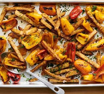 Roasted Jicama and Peppers image